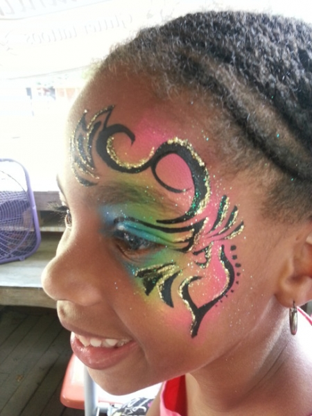 face painting by Shaun Gray