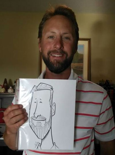 Andrew Mok Party Caricature