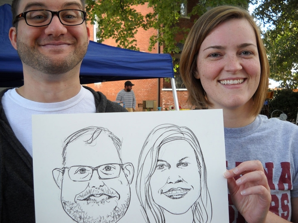 Dan Kisner Party Caricature