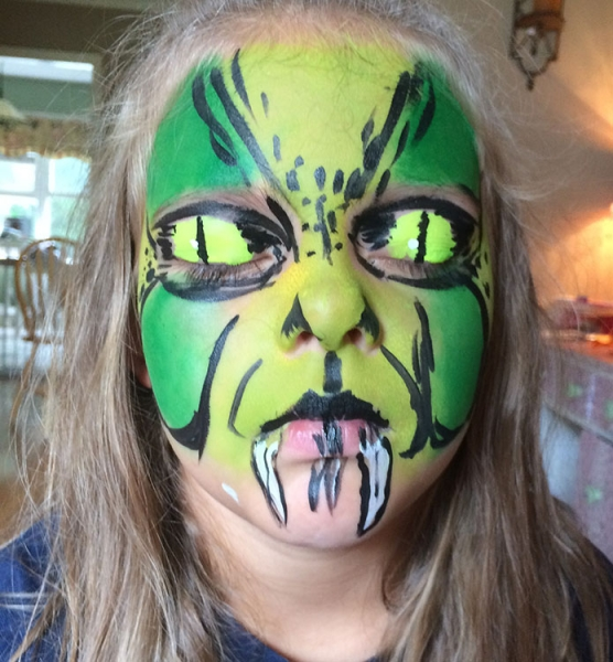 face painting by Cindy Flores