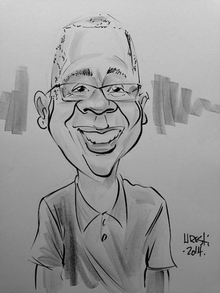 Eddie Uresti Party Caricature