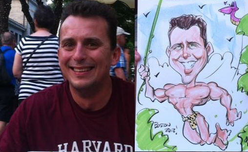 Chris Vlahakis Party Caricature