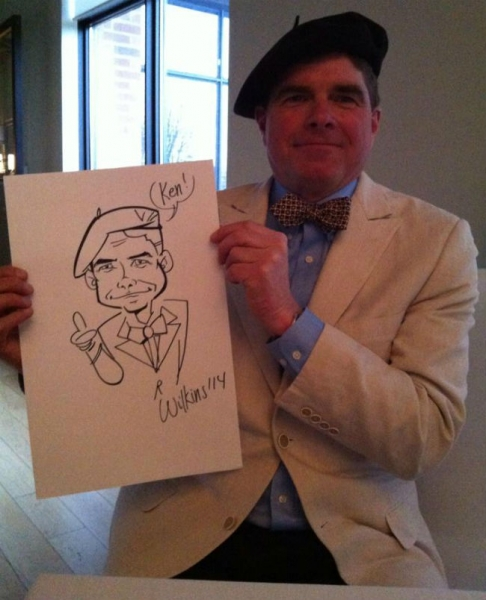 Jason Wilkins Party Caricature