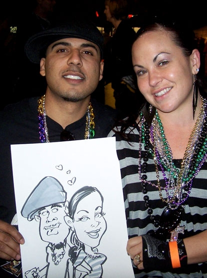 Adam Street Party Caricature