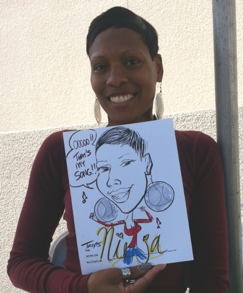 Tucky McKey Party Caricature