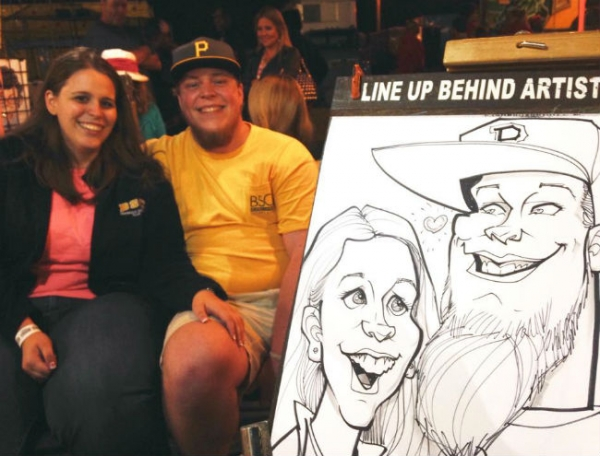 Tim Reed Party Caricature