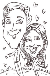 Ben Percic Party Caricature