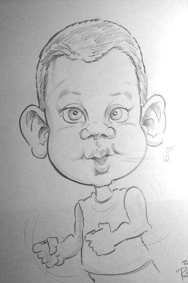 Ryan Roe Party Caricature