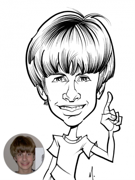 Matthew Cox Party Caricature