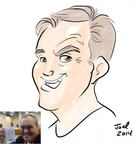Joel Natal Digital Party Caricature