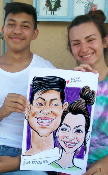 Dave Foster Party Caricature