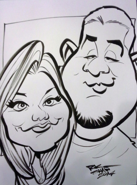 Ryan Shaw Party Caricature