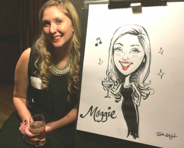 Rick Wright Party Caricature