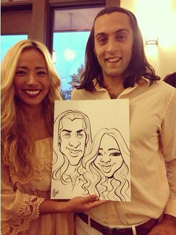 Amy Gorman Party Caricature