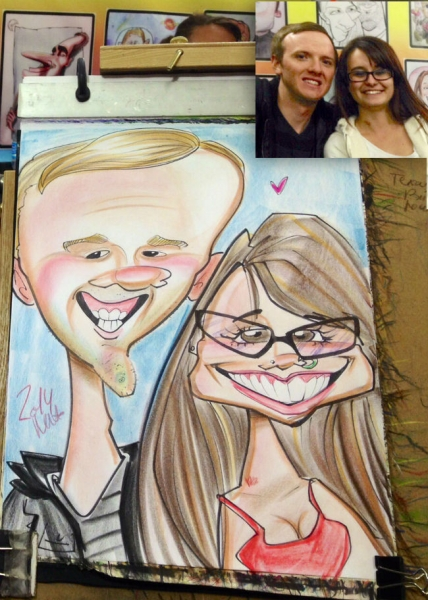 Natalie Avetisyan Party Caricature