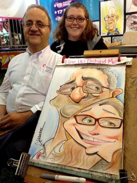 Manny Avetisyan Party Caricature