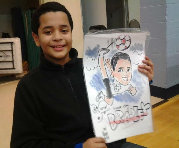 Bill Wright Party Caricature