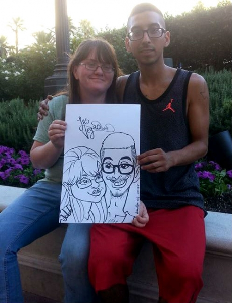 Jessica Robins Eads Party Caricature