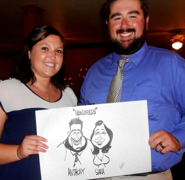 Michael Hopkins Party Caricature