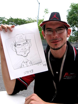 Ray Alma Party Caricature