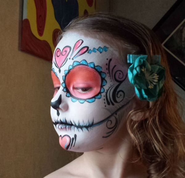 Face paint by Stacey Perry