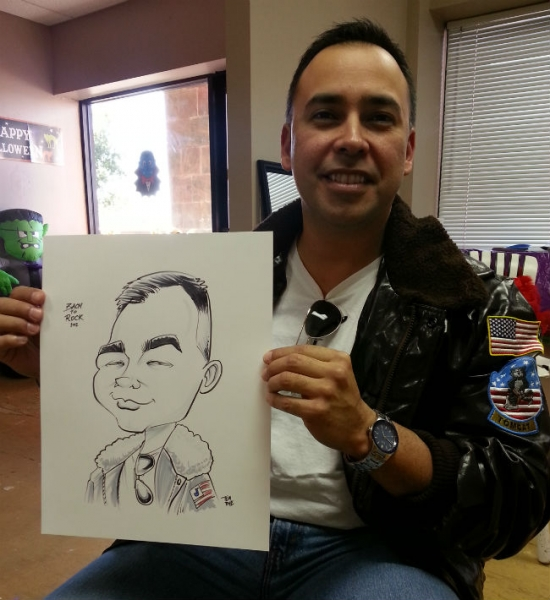 Tom Rye Party Caricature