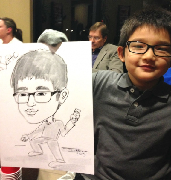 Debbie King Party Caricature