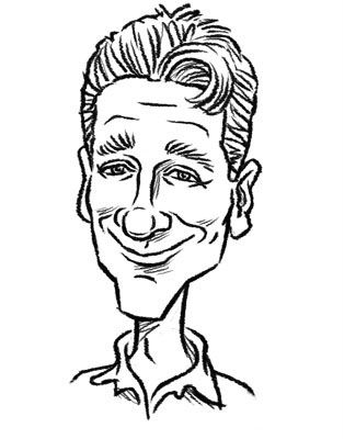 Ronnie Smith Digital Party Caricature
