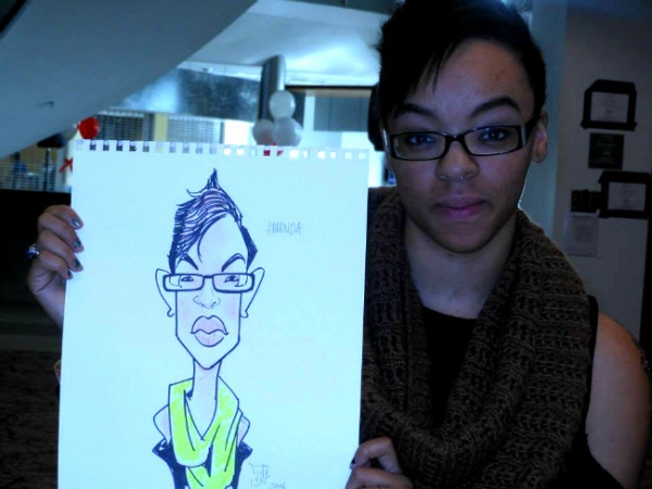 Manil Bambi Party Caricature