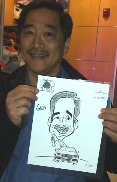 Lou Medina Party Caricature