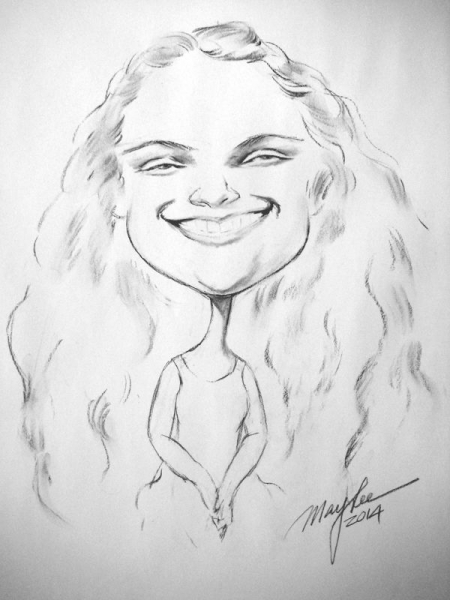 May Lee Party Caricature