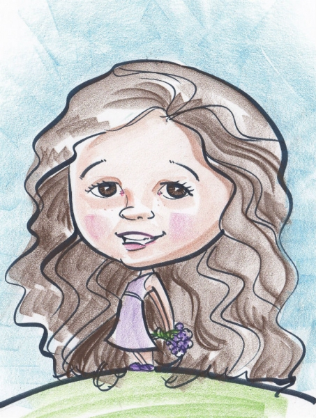 Andrea Cheaney Party Caricature