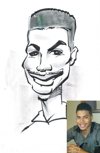 Chaka LakerOjok Party Caricature