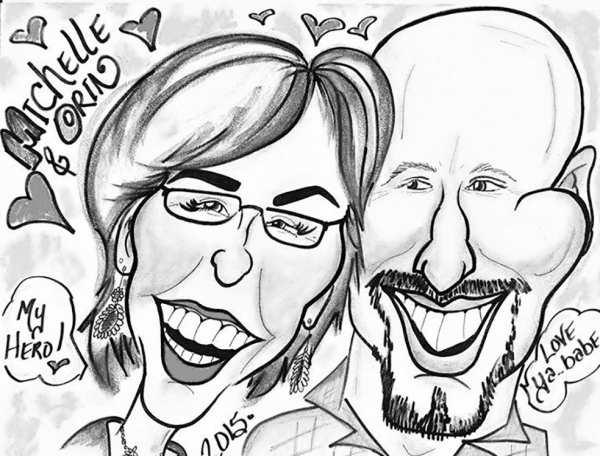 Gayle Timm Party Caricature