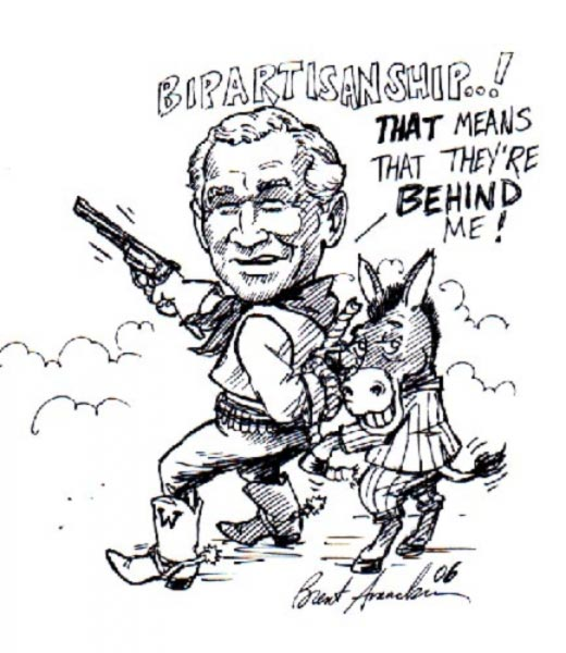 George W Bush caricature by Brent Amacker