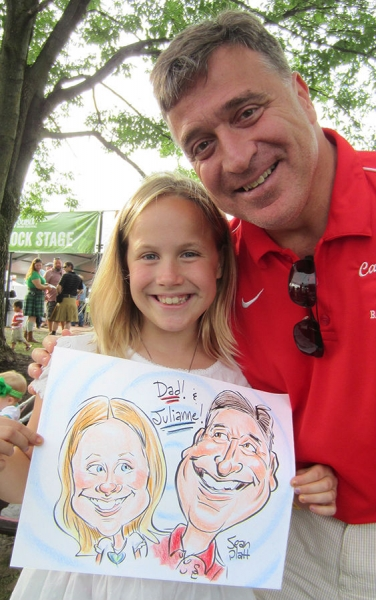 Sean Platt Party Caricature