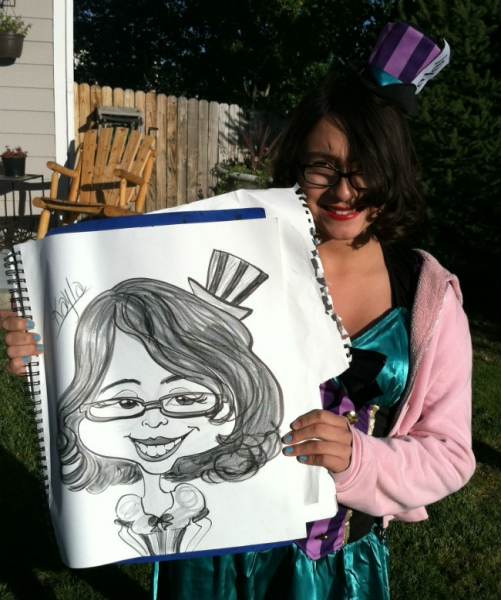 Andrea Michel Party Caricature