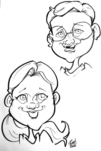 Biff Marshall Party Caricature