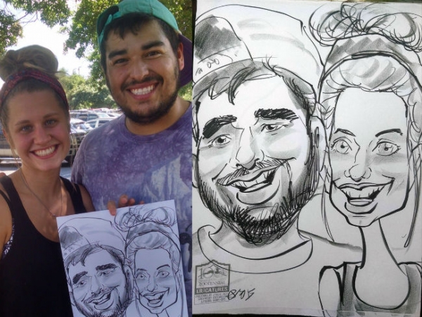 Jared Cook Party Caricature