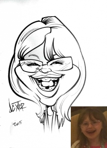Dexter Rothchild Party Caricature