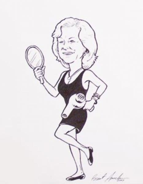 Party caricature by Brent Amacker