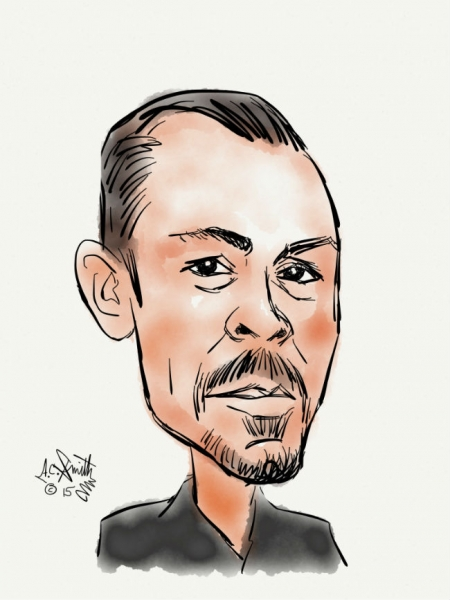 A C Smith Digital Party Caricature