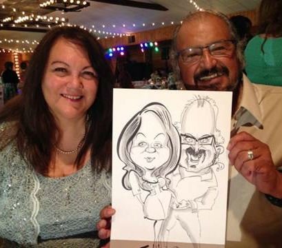 Martha Watson Party Caricature