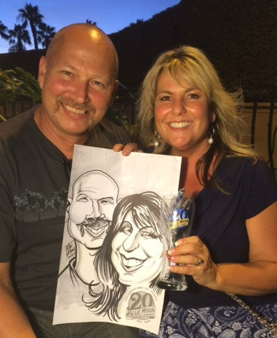 Justin Galloway Party Caricature