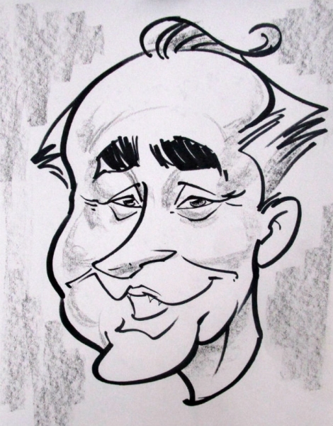 William Woeger Party Caricature