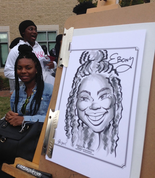 Suzanne Grover Party Caricature