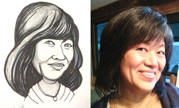 Beverly Barris Party Caricature