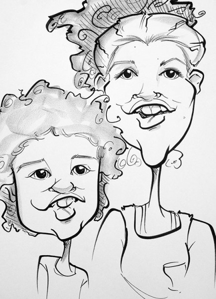 Alicia Hess Party Caricature