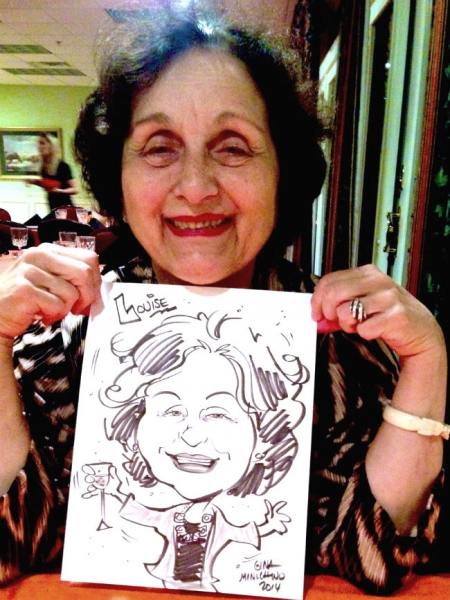 Gina Minichino Party Caricature