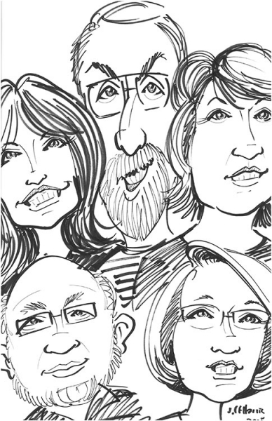 Jeff Harris Party Caricature